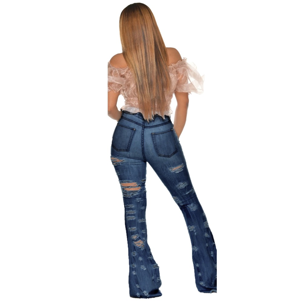 New Design fashion women Blue Color Jean Boot Cut Pants Casual Street Lady Long Denim Pants Sexy Club Wide Leg Jeans (7)