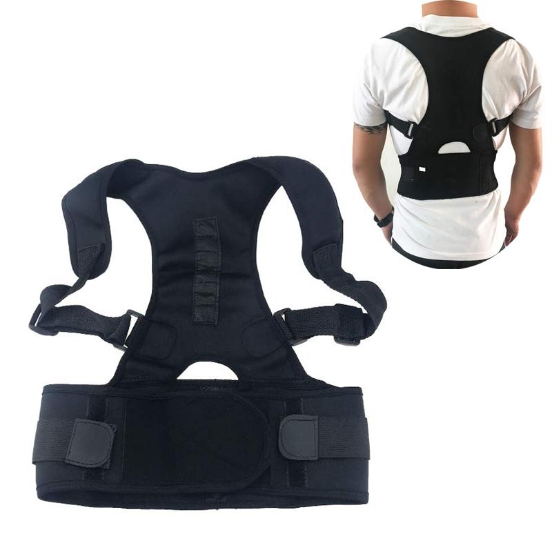 Homme Posture Correcteur Vest Support Arrière shirt abdominale ventre contrôle sous-vêtements