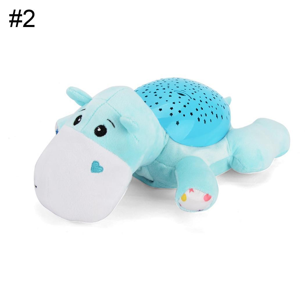 Baby Cartoon Animal Soft Comfort Plush Toys Music Hypnotic Projection New Baby Projection