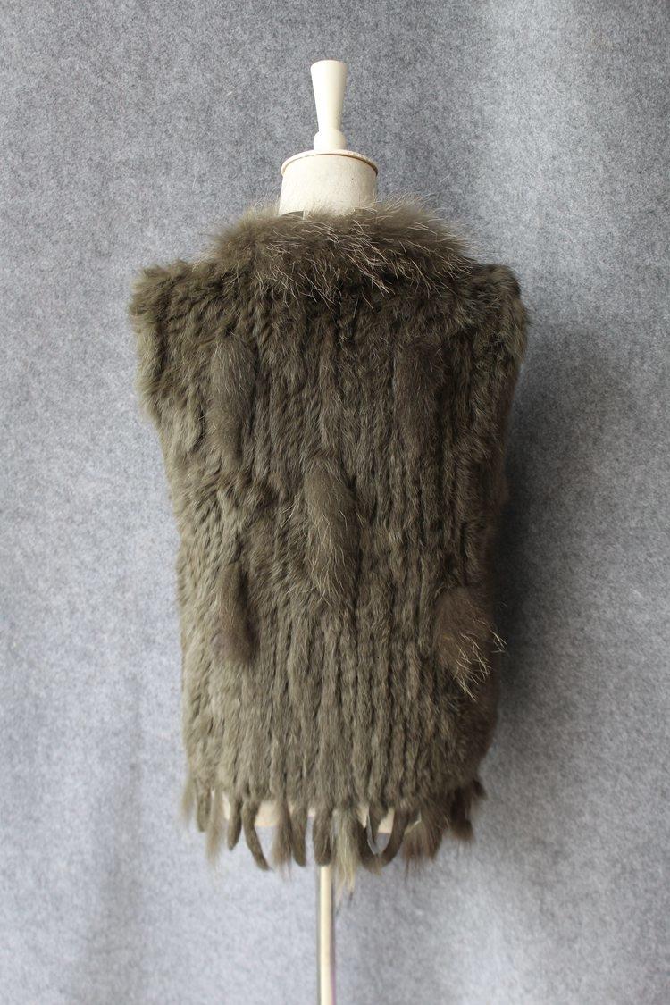 genuine real rabbit fur vest with raccoon fur collar (39)