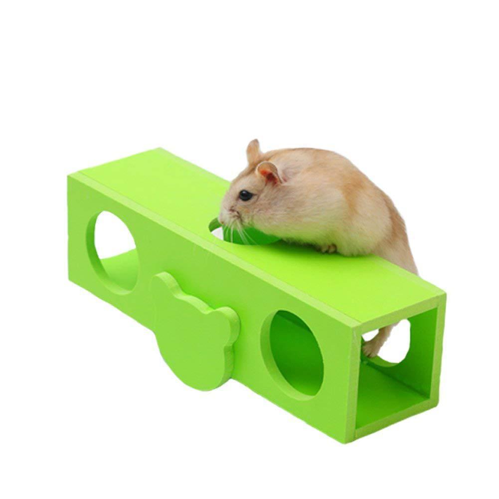 Ecology Wood Flat Car Seesaw Hamster Holland Pig Cage Villa Motion Toys Non-slip Garden Cart Tall Barrel