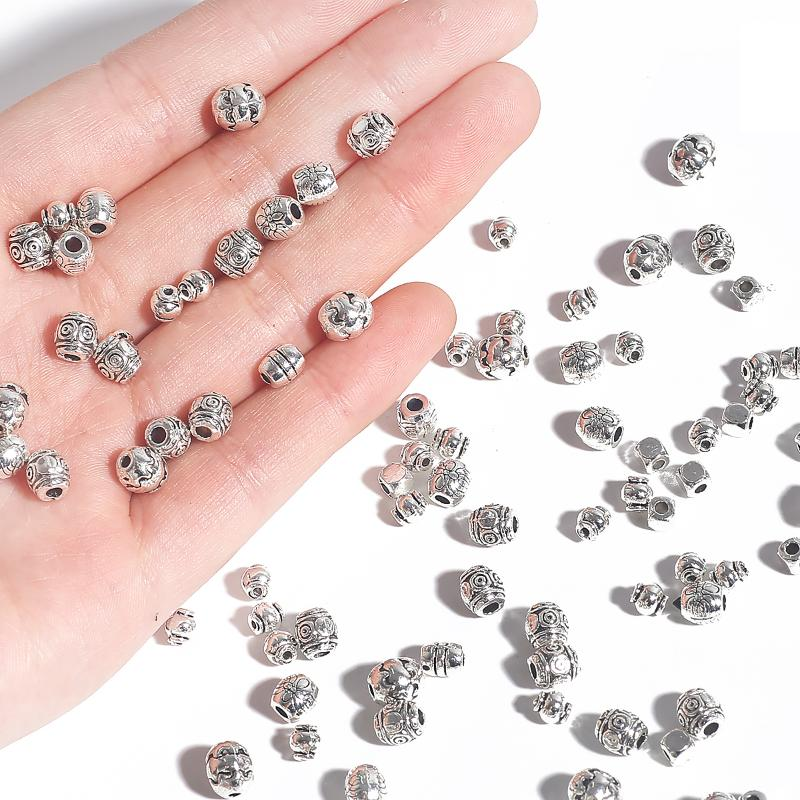 15//100Pcs Tibetan Silver Fish Charm Spacer Beads Jewelry Findings DIY 12x8mm