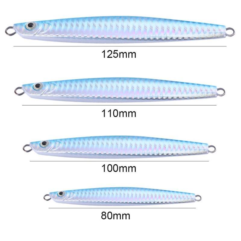 7 PCS Laser Jig Fishing Lure Set Jig Metal Bait Iron Lead Fish Tackle 21g *