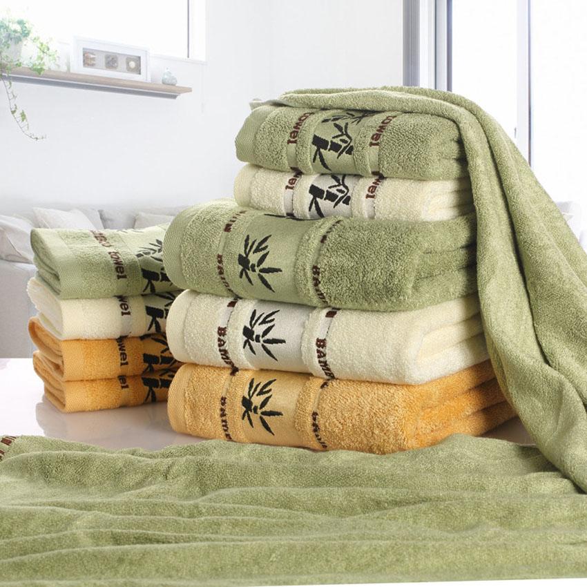 PWTY 100/% Bambou Fibre Serviette Ensemble Serviettes De Bain pour Adultes Serviette Maison Textile Salle De Bain Cadeau