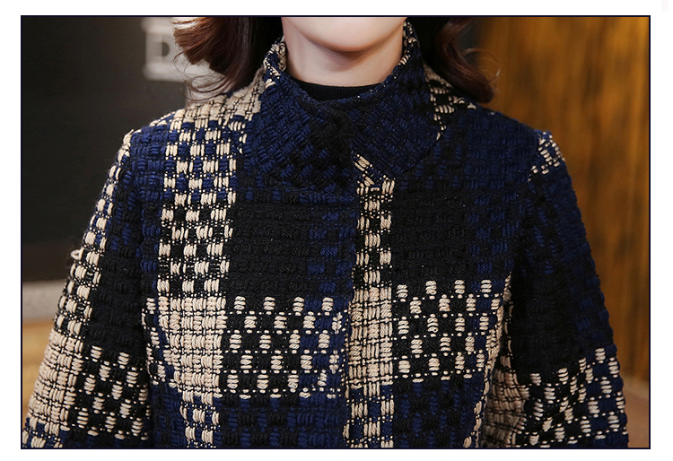 HanOrange 3 четверти рукава плед плед карманный темперамент элегантный Contexture 2019 зима тонкое шерстяное X-длинное пальто плюс размер T190903