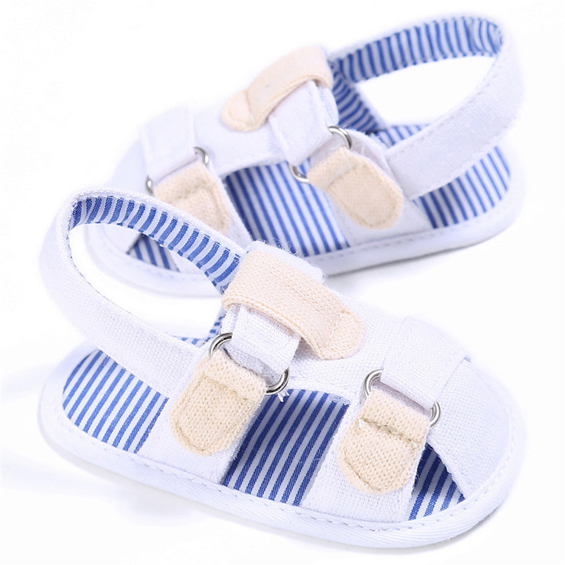 2 Color Summer Fashion Baby Boys Sandals Toddler Infant Kids Baby Boys Canvas Anti-slip Sole Crib Sandals Shoes M8Y02 (10)