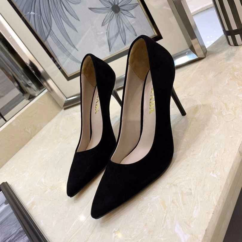 Fabric cowhide pad light color high quality sheepskin wear-resistant non-slip rubber sole ladies new simple and generous single shoes
