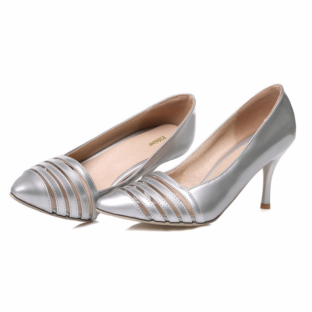 250d3adcab Dress Yifsion New Arrival Women Shiny Pumps Stiletto Thin High Heels Pumps  Pointed Toe Party Office Shoes Women Us Size 3 16 Oxford Shoes Ladies Shoes  ...