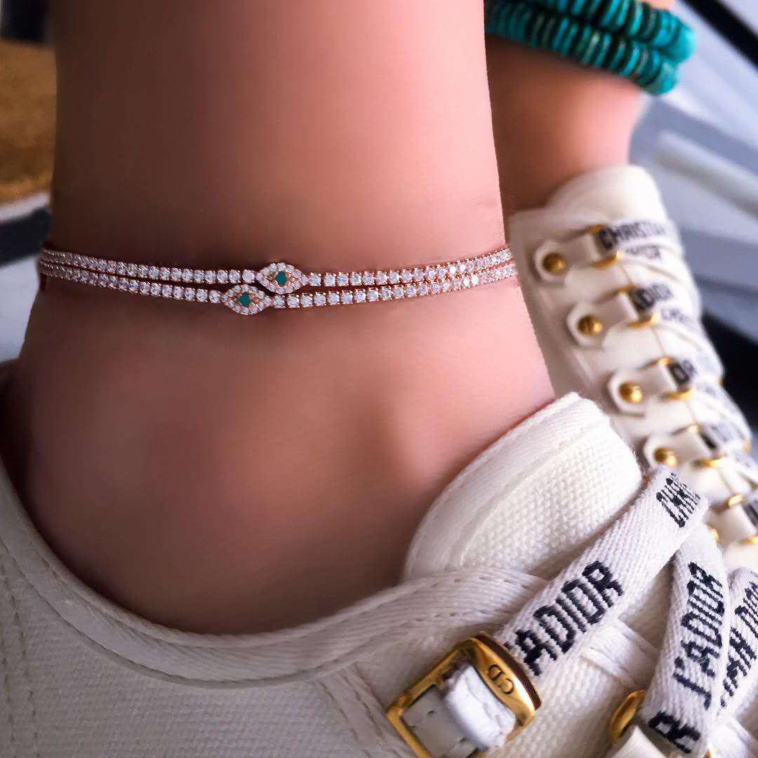 5pcs//set Infinity Charm Anklet Ankle Bracelet Sandal Foot Chain Beach Jewelry BS