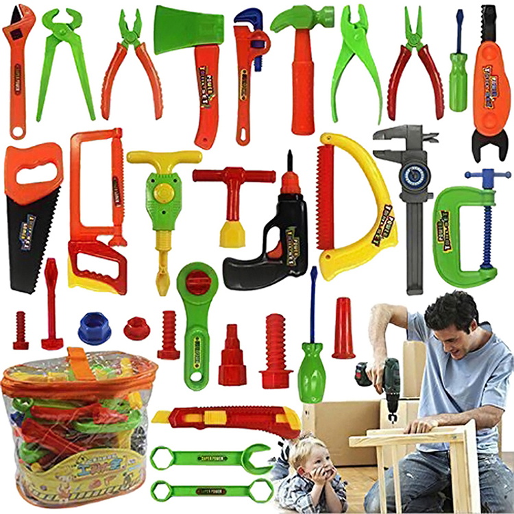 Repair Tools Set Boy Kid Toys Craftsman Pretend Play Fixing Skill Puzzle Toy Christmas Gift Simulation Repair Tools