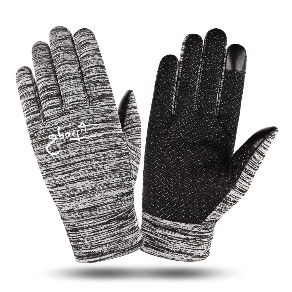 Herren Winter Strick Wolle Damen Geschlossene Finger Touchscreen Handschuhe #
