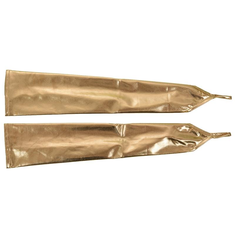 Metallic Gogo Handschuhe gold lang glänzende Abendhandschuhe Clubwear