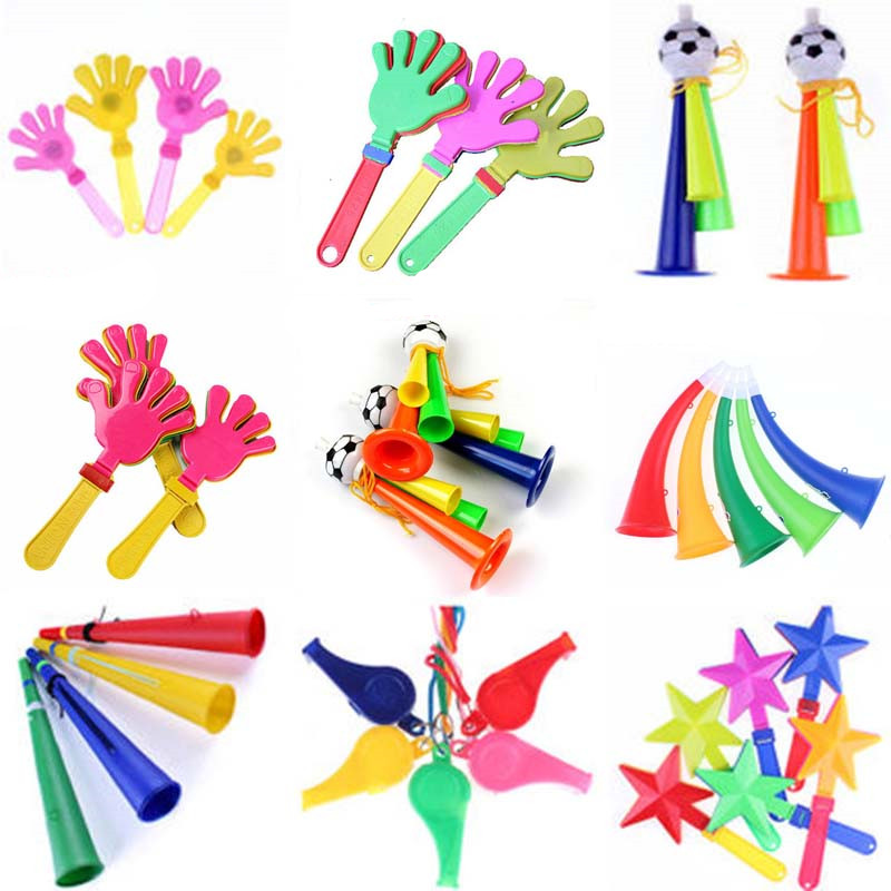 Football Horn Trumpet Whistles Noise Maker Kids Toys Cheerleader Cheering Props Hand Clapper Birthday Party Favor Gift Navidad