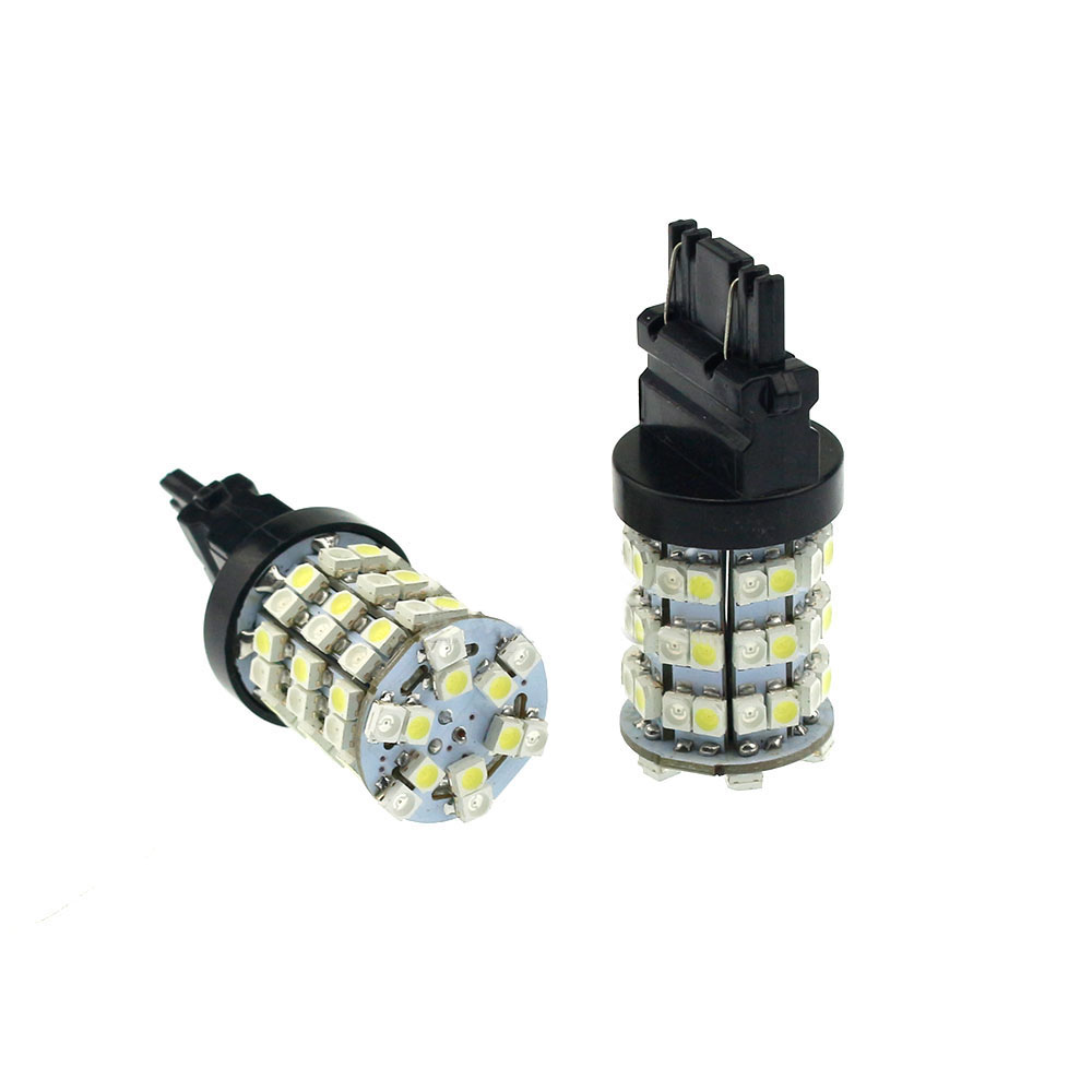 Amber White 3157 3357 3457 Switchback Bulb 3528 60 SMD LED Turn Signal Light 2x