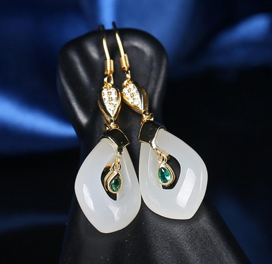 Luxe 24k or jaune rempli Boucles D/'Oreilles 14 mm Créoles Zircon Gold Filled Charm Fashion Jewelry New