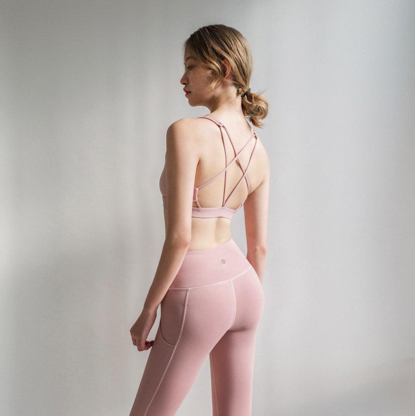 Donna Bella Behind Back Crossing Bandage Motion Intimo Yoga Bra Run Bras Vest