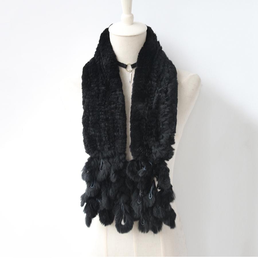 knitted rabbit fur scarf rabbit (4)