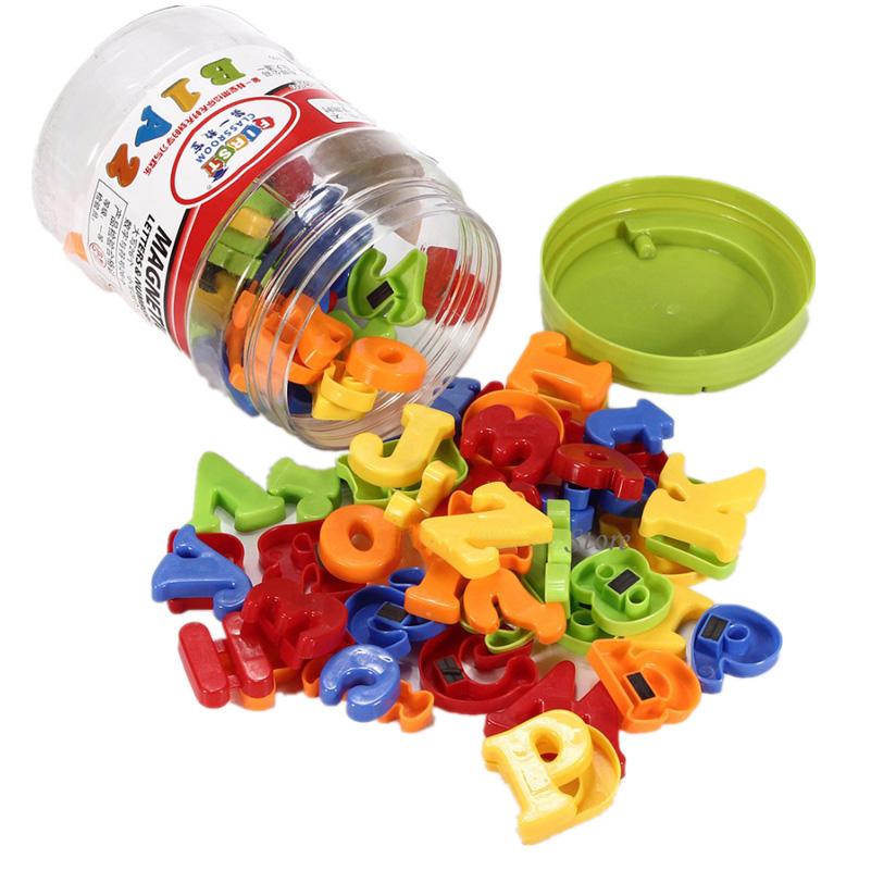 Coloré Plastique magnétique aimants lettre alphabet /& chiffres Set 52 pcs