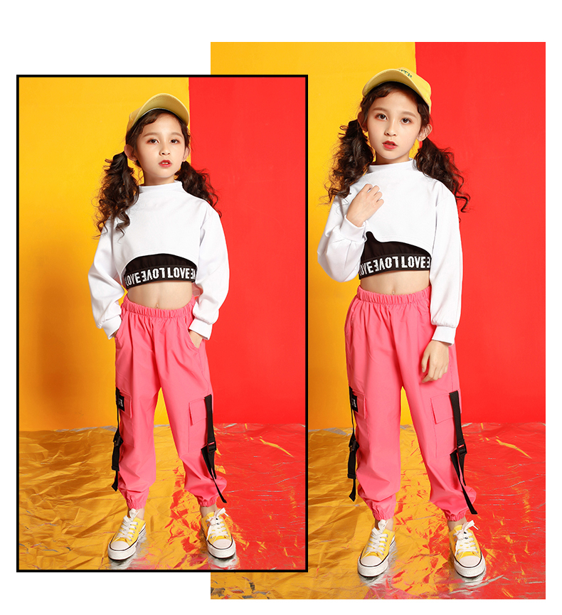 Girls boutique outfits 4 6 8 10 123 14 16 18 Years hip hop hoodies sweatshirts kids costumes girls kids summer clothes (13)