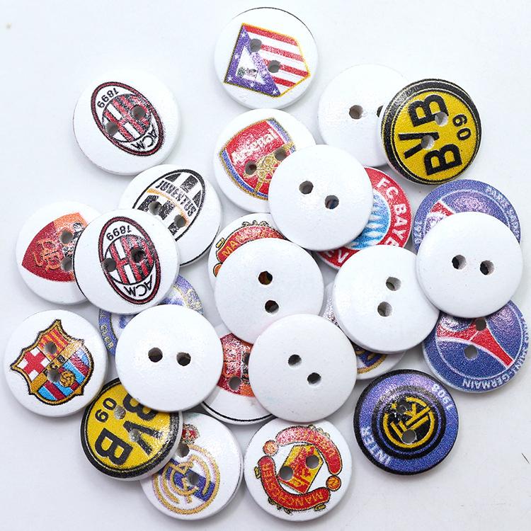 100-pz-15mm-legno-colore-misto-bottoni-dipinto-calcio-FAI-DA-TE-stampa-del-fumetto-di (2)