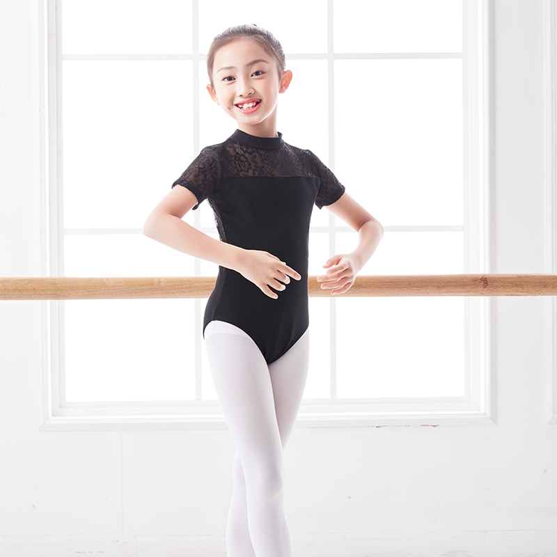 iEFiEL Kids Girls Keyhole Halter Lace Gymnastics Leotard Child Modern Contemporary Dance Outfit Crop Top with Bottoms