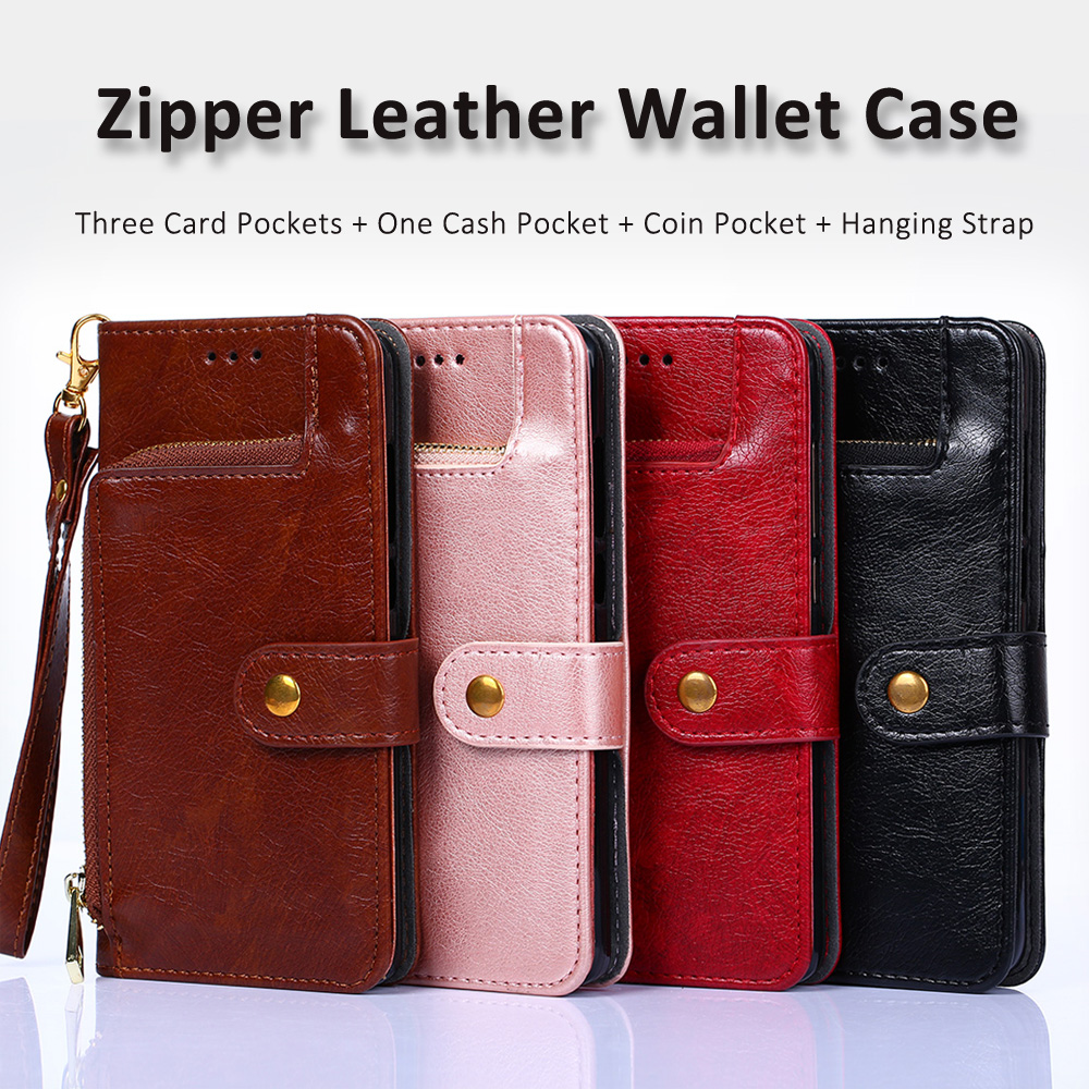 wholesale 6 6T Leather Case Flip TPU Cover for Oneplus One 2 3 5 5T Zipper Wallet Phone Cases with Card Slot Stander Shell Coque