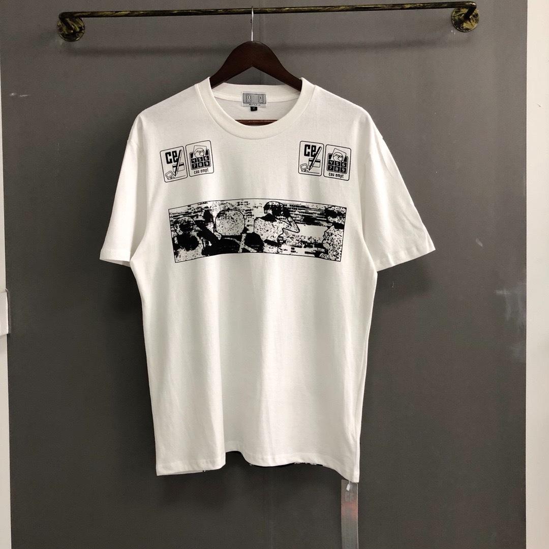 2019 Cav Empt Brand Designer Caricature Impreso Mujeres Hombres Camiseta Camisetas Mejor calidad 1: 1 Hombres Streetwear C.e Camiseta de algodón