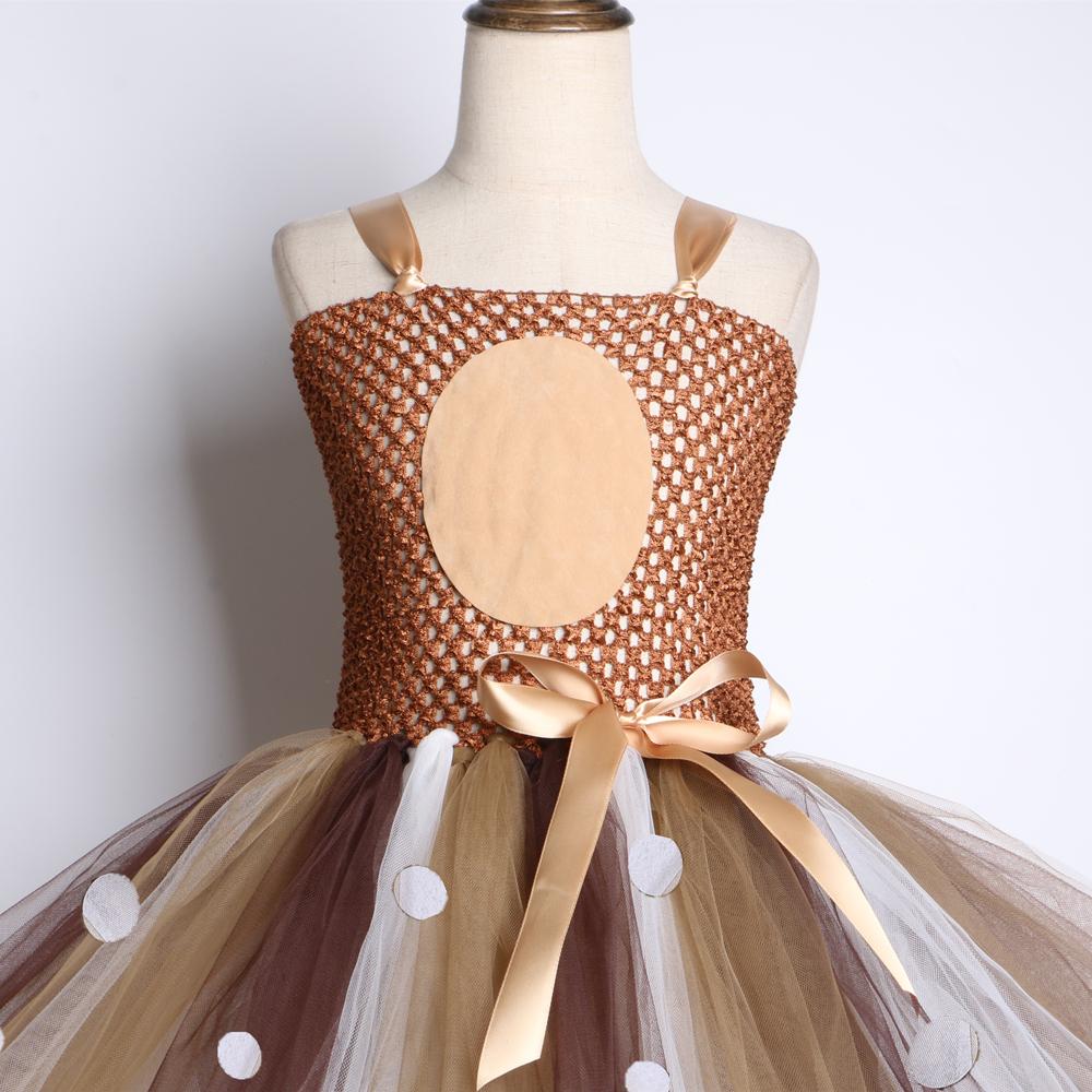 Kahverengi Geyik Kız Tutu Elbise Cadılar Bayramı Noel Geyik Kostüm Çocuklar Tutu Elbiseler Kızlar Doğum Günü Partisi Elbise Çocuk Giyim Y19061701