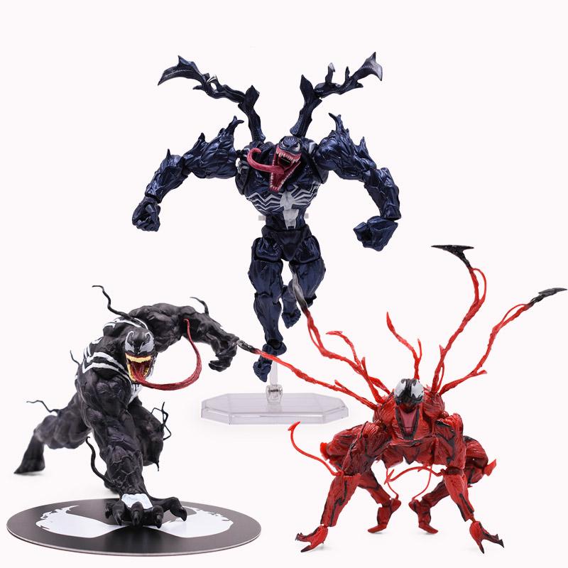 Marvel Carnage Rouge Venom Edward Brock Figurine Articulée Modèle Anniversaire