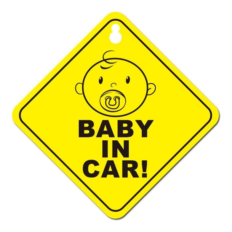 12.5*12.5 cm Car Sticker Lovely Cartoon BABY IN CAR Colored Graphic Decoration