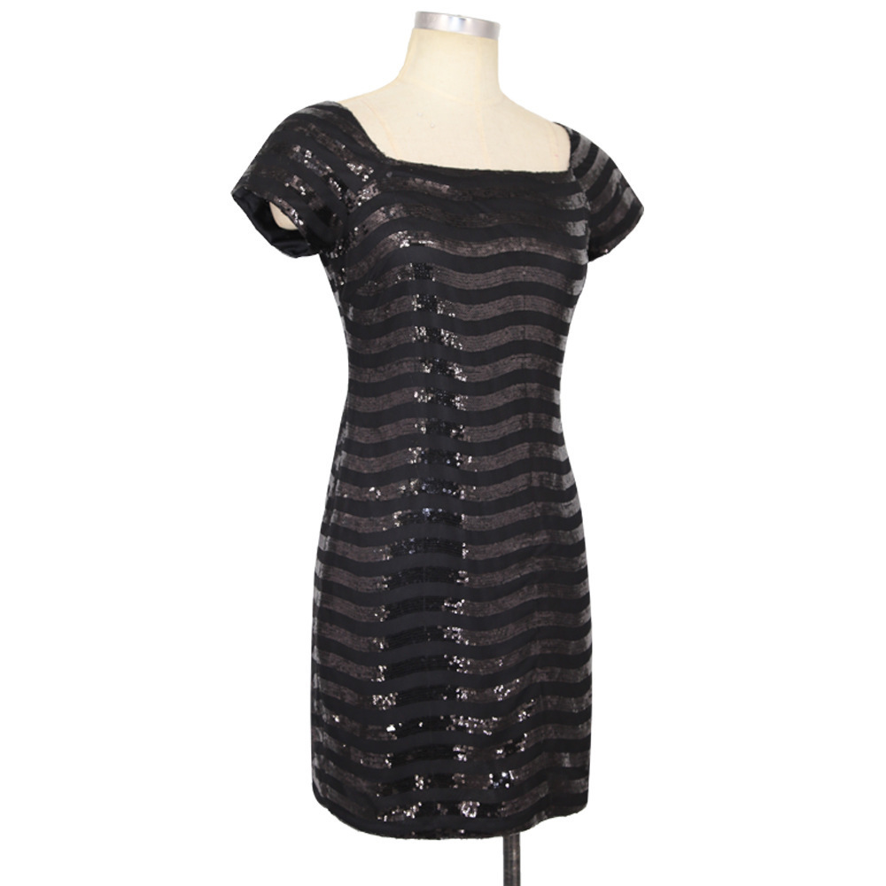 black sequin dress 2193 (2)