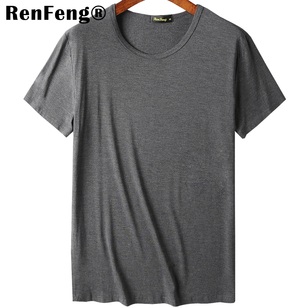2018 Cool T Shirt Men 95% Bamboo Fiber Hip Hop Basic Blank White T-shirt For Mens Fashion Tshirt Summer Top Tee Tops Plain Black (7)