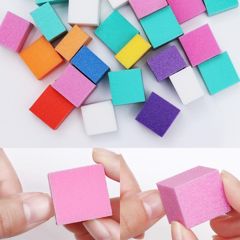 Acheter Ensemble Mini Irrégulier Fichier Tampon D Ongles Coloré éponge à Poncer Meulage Polissage Nail Art Manucure Salon Diy Outil Maquillage De