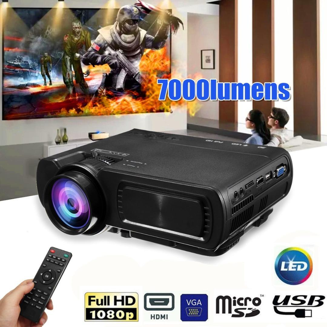 Wireless WIFI 7000LM HD 1080P DLP Projector Multiscreen Video Home Theater HDMI