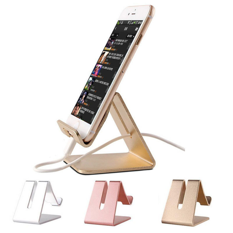 Universal Desk Phone Holder Aluminum Metal Tablet Stand for iphone X 7 Plus Mobile Support for ipad Smartphone Desktop Holder