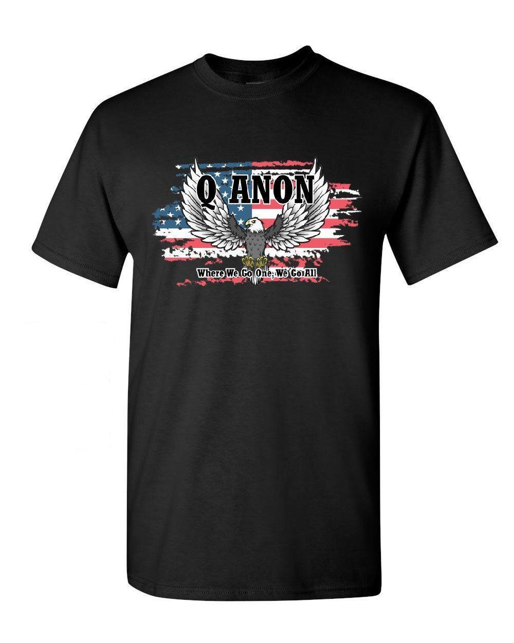 QAnon American Flag Eagle Boys Cotton Long Sleeve Tshirt