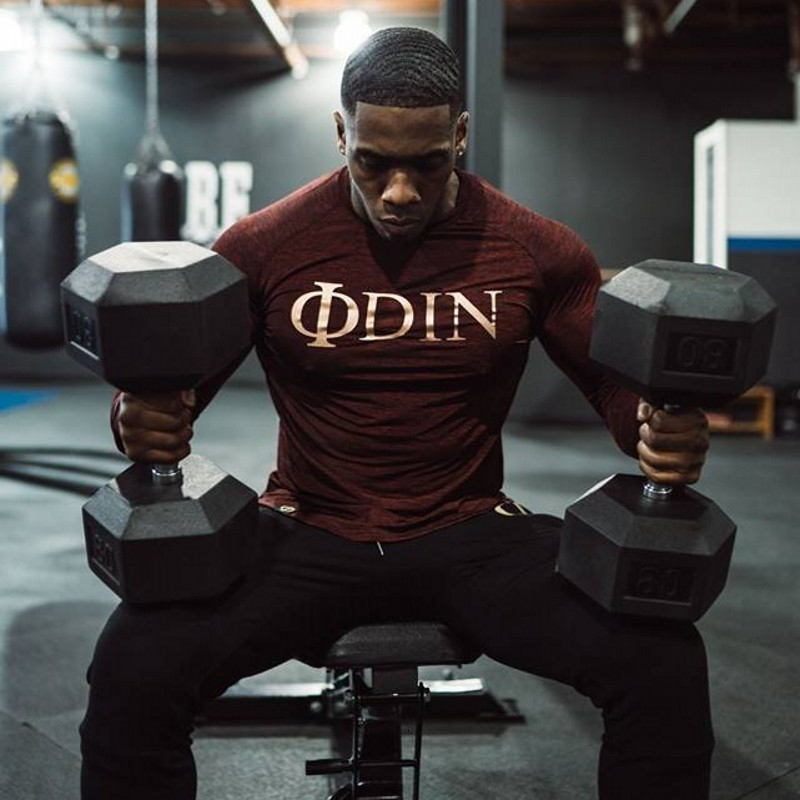 Men Long Sleeve T Shirt Sport gym shirt (1)