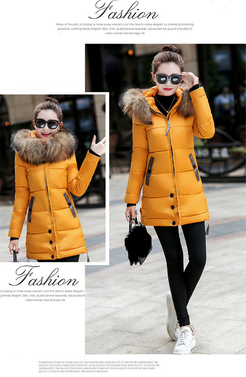 2020 Winter Coats Winter Jacket Women Big Fur Hooded 100% ...