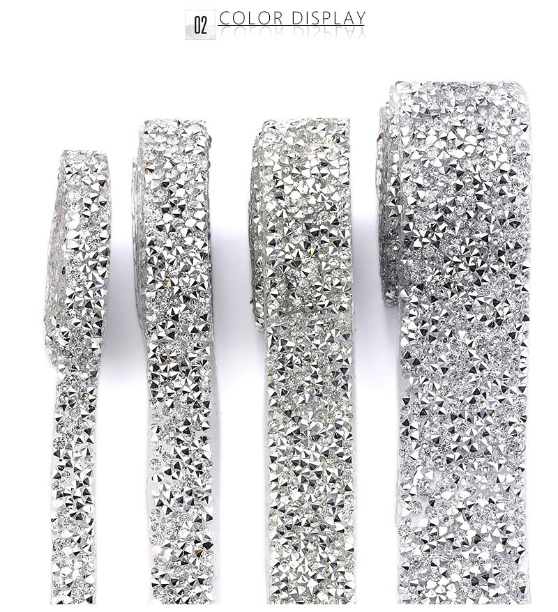 all/'ingrosso strass nuovo stile VETRO Diamante taglio di ferro-on Bridel Trim