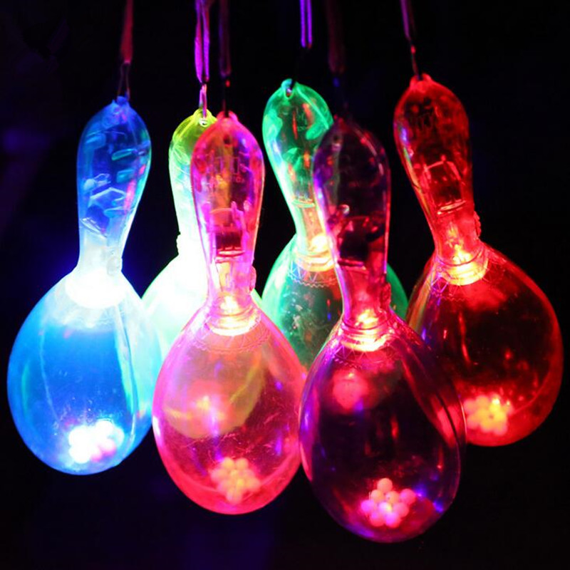 LED Light Up Glowing Maracas Kids Flashing Toys Bar Concert KTV Cheering Props Rave Glow Party Supplies