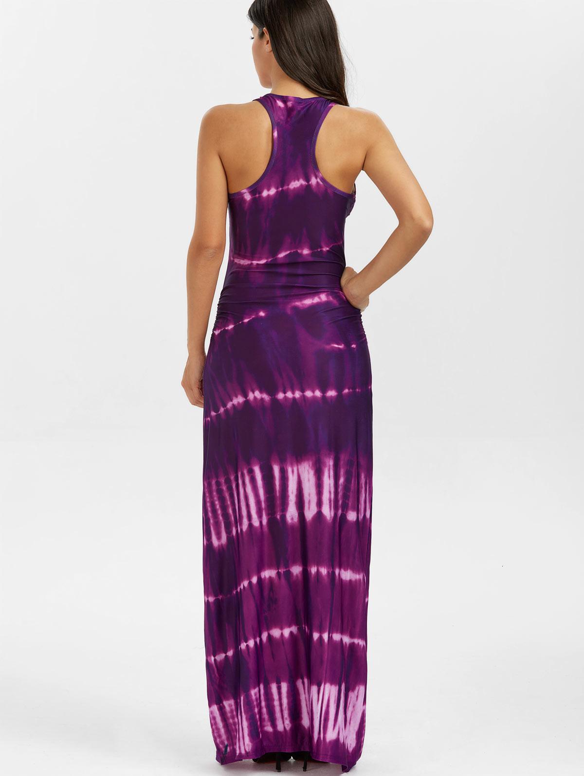Abito del partito dei vestiti di marca 2019 Summer Party donne maxi Vestito della Boemia di stampa tie-dye Racerback maxi serbatoio vestiti lunghi le vacanze Vestido