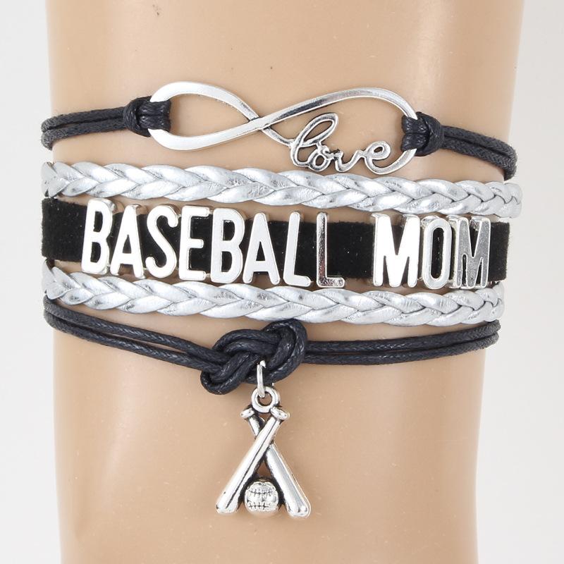 Baseball Mom Bracelet Baseball Pendant Bracelet Bangle