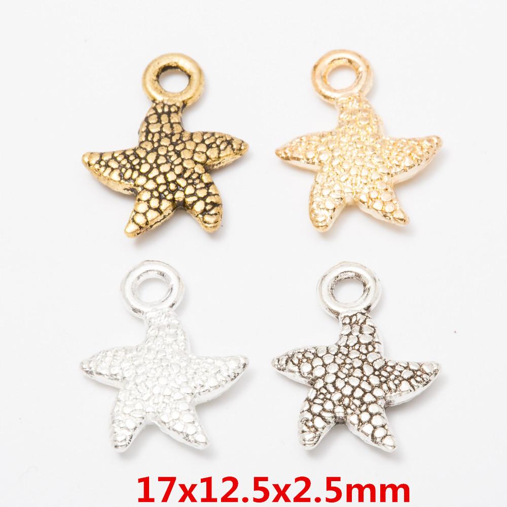 Starfish charms Antique Tibetan GOLD Craft Beach Sea Sand Holiday