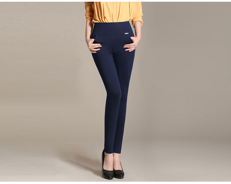 Stretch pencil pants