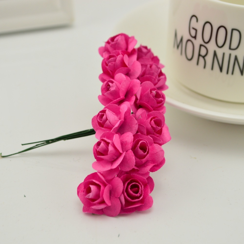 144pcs-1cm-cheap-Artificial-Paper-flowers-for-Wedding-car-fake-Roses-Used-For-decoration-Candy-box(9)