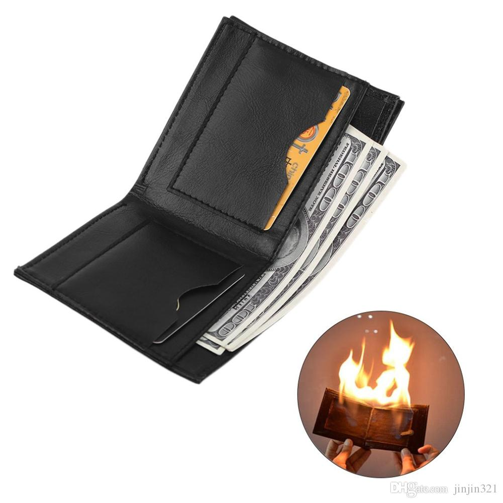 LANDUM Flame Fire Wallet Magician Props Wallet Street Stage Show Profession Magic Trick
