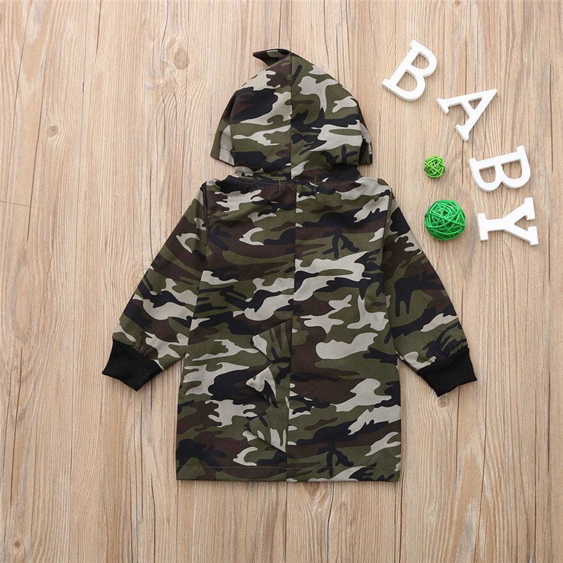 Winter Coat For Kids Toddler Kids Baby Boy Camouflage Long Sleeve Dinosaur Hooded Windproof Tops Coat Clothes Kids Clothes O10#F (6)