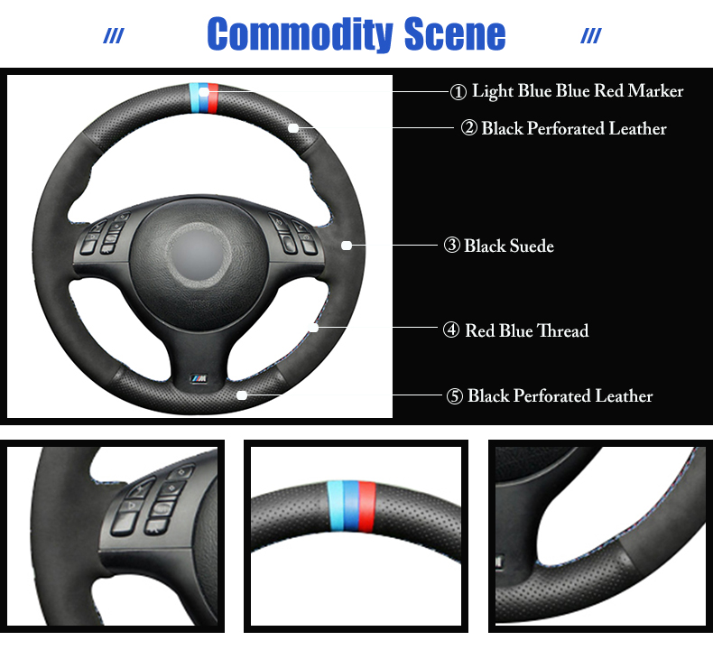 for BMW 525i steering wheel cover