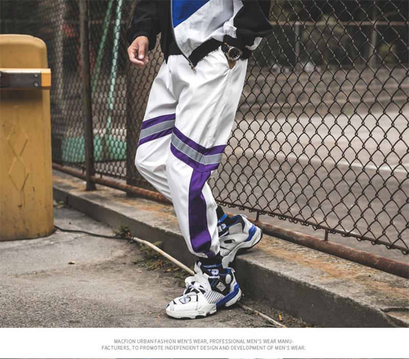 Loose Hip Hop Cargo Pants Men Camouflage Patchwork Harem Mens Trousers Streetwear (60)