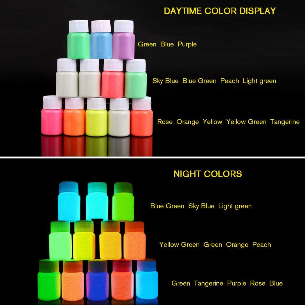 Nova Moda de Moda de Nova Chegada UV Brilho Neon Pigmento de Tinta Corporal 20 ml e Fluorescente Super Brilhante Moda Pintura Acrílica